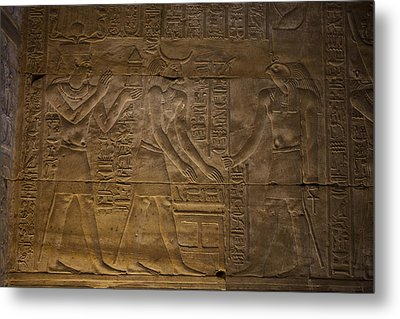 The Gods Horus, Hathor And The Pharaoh Metal Print by Taylor S. Kennedy