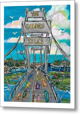 The Golden Isles Metal Print by Doralynn Lowe