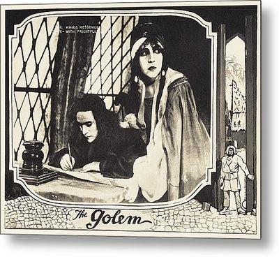 The Golem, Aka Der Golem, Wie Er In Die Metal Print by Everett