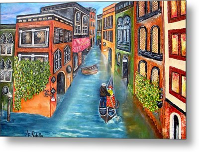 The Gondola Ride Metal Print