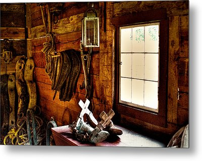 The Granary At Fort Nisqually Metal Print by David Patterson