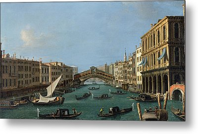 The Grand Canal Metal Print by Antonio Canaletto