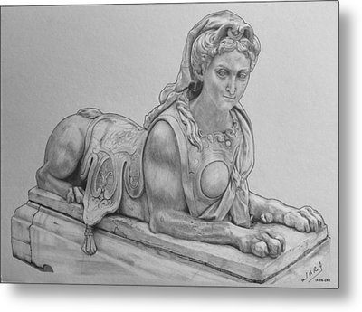 The Grand Sphinx Metal Print by Miguel Rodriguez