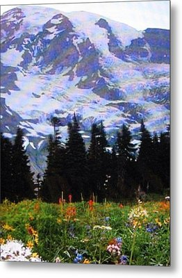 Metal Print featuring the photograph The Grand Tetons In Jackson  by Shawn Hughes