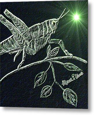 The Grasshopper Metal Print by Maria Urso