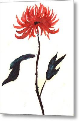 The Great Chrysanthemum Metal Print