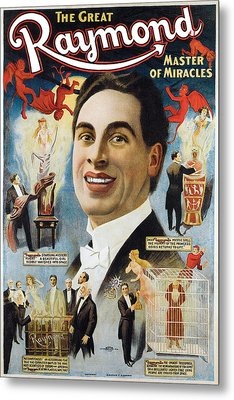 The Great Raymond Master Of Miracles Metal Print by Unknown