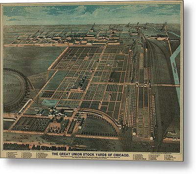 The Great Union Stock Yards Of Chicago Metal Print by Everett