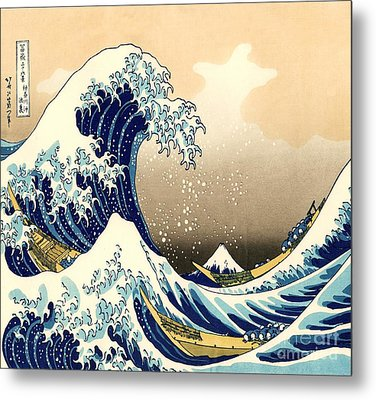 The Great Wave Metal Print by Pg Reproductions