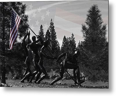 Metal Print featuring the photograph The Greatest Generation  by Larry Depee