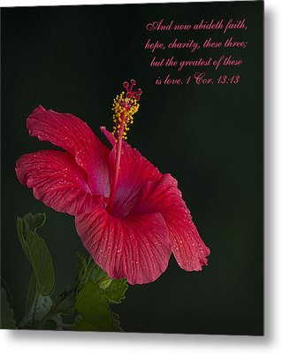 The Greatest Of These Is Love Metal Print by Kathy Clark