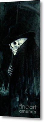 The Grim Reaper Metal Print by Barbara Marcus
