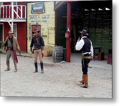 The Gunfight Metal Print by Helen Haw