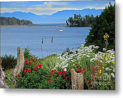 The Harbor At Sooke Metal Print by Louise Heusinkveld