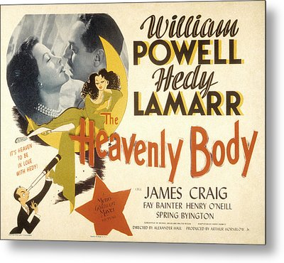 The Heavenly Body, Hedy Lamarr, William Metal Print by Everett