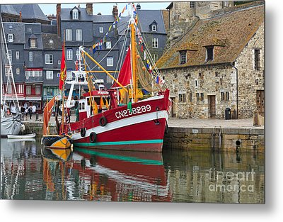 The Historic Fishing Village Of Honfleur Metal Print by Louise Heusinkveld