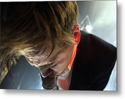 The Hives' Howlin' Pelle Almqvist Metal Print by Jesse Seilhan