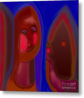 Metal Print featuring the digital art The Home Without Dad  by Latha Gokuldas Panicker
