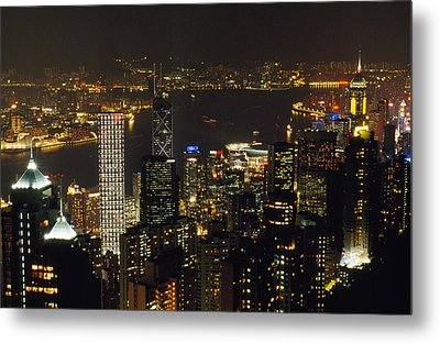 The Hong Kong Skyline Seen Metal Print by Justin Guariglia