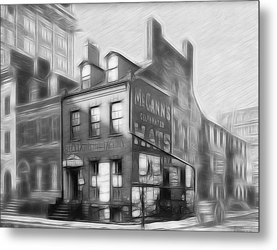 The House At The Corner Metal Print by Steve K