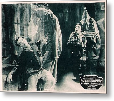 The House Of Terror, Front Left Jack La Metal Print by Everett