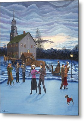 The Ice Skaters Metal Print by Tracy Dennison