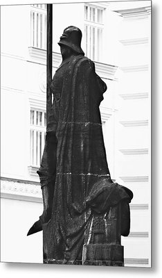 The Iron Knight - Darth Vader Watches Over Prague Cz Metal Print by Christine Till