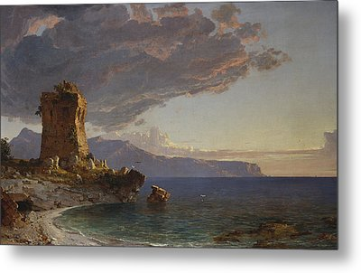 The Isle Of Capri Metal Print by Jasper Francis Cropsey
