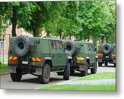 The Iveco Lmv Of The Belgian Army Metal Print by Luc De Jaeger