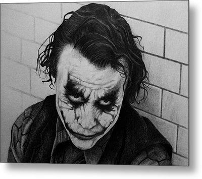 The Joker Metal Print by Carlos Velasquez Art