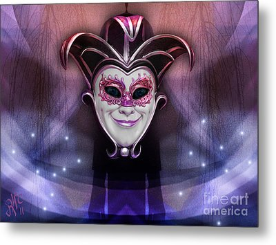 Metal Print featuring the digital art The Joker by Rosa Cobos