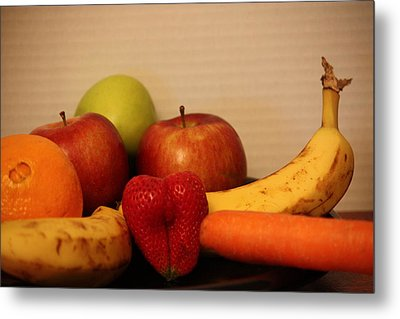 The Joy Of Fruit At Supper Metal Print by Andrea Nicosia