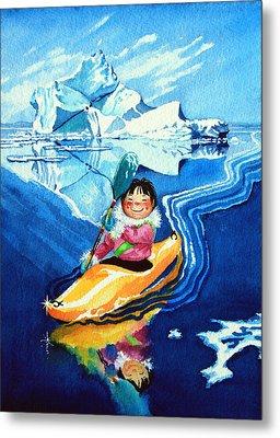 The Kayak Racer 13 Metal Print by Hanne Lore Koehler