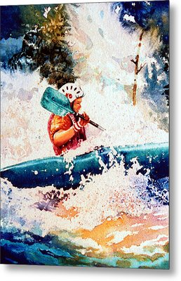 The Kayak Racer 18 Metal Print by Hanne Lore Koehler
