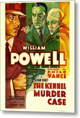The Kennel Murder Case, William Powell Metal Print by Everett