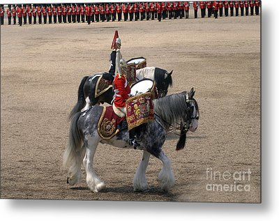 The Kettledrums Of Household Cavalry Metal Print by Andrew Chittock