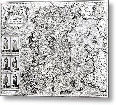 The Kingdom Of Ireland Metal Print by Jodocus Hondius