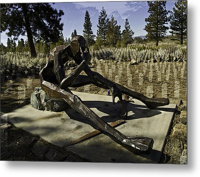 Metal Print featuring the photograph The Korean Veteran by Larry Depee