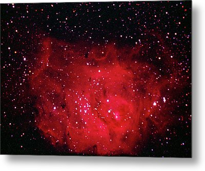 The Lagoon Nebula In Sagittarius Metal Print by A. V. Ley