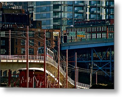 The Lakefront Line Metal Print by MB Matthews