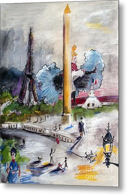 The Last Time I Saw Paris Metal Print by Ginette Callaway