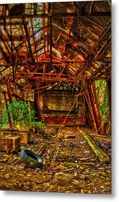 The Leaning Red Room Metal Print by Kimberleigh Ladd