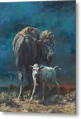The Legend Begins Metal Print by Mia DeLode