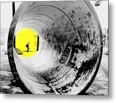 The Light At The End Of The Tunnel Metal Print by Valentino Visentini