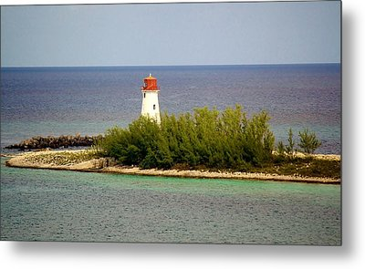 The Light House Metal Print by Paulette Thomas