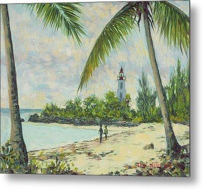 The Lighthouse - Zanzibar Metal Print by Tilly Willis