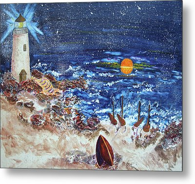 The Lighthouse Metal Print by Joy Braverman