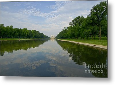 Metal Print featuring the photograph The Lincoln Memorial And Reflecting Pool by Jim Moore