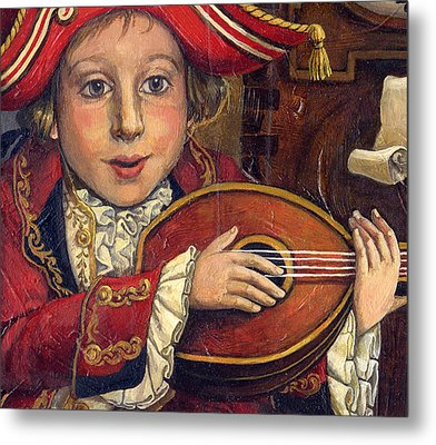 The Little Mozart.detail. Metal Print by Victoria Francisco