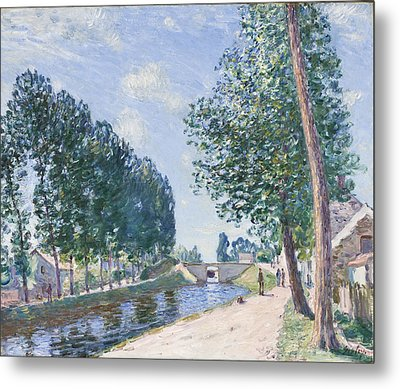 The Loing Canal At Moiret Metal Print by Alfred Sisley